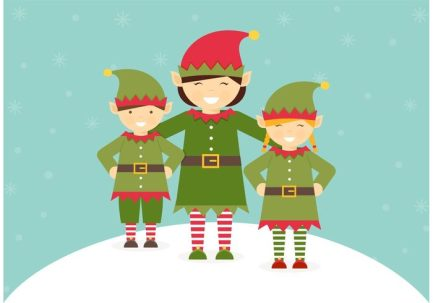 free-santa-elves-vector