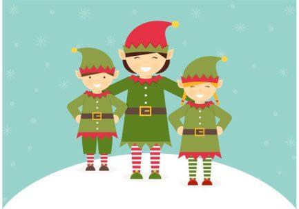 free-santa-elves-vector